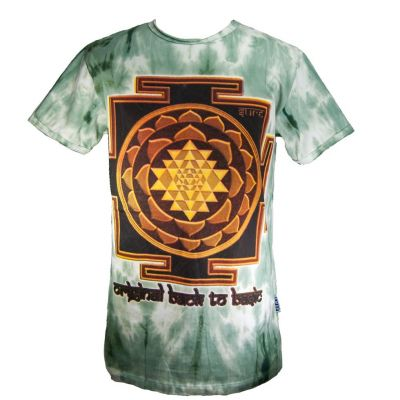 T-shirt Sri Yantra Green