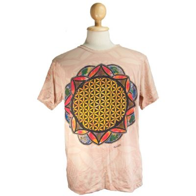 T-shirt Flower of Life Beige