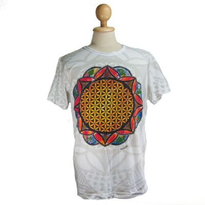 T-shirt Flower of Life White