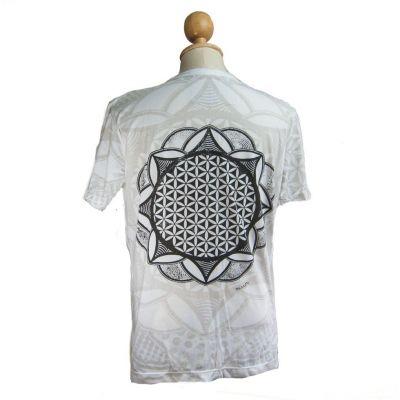 Mirror t-shirt Flower of Life White