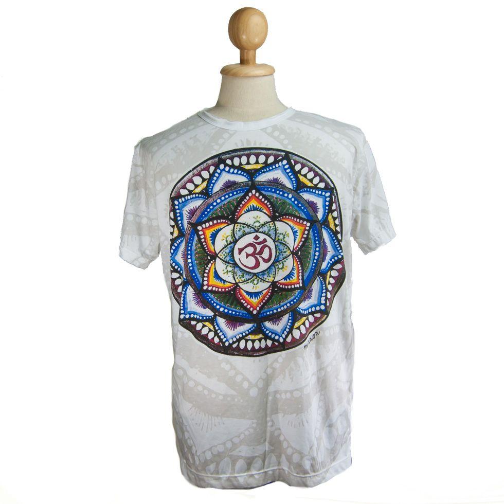 Mirror t-shirt Holy Lotus White