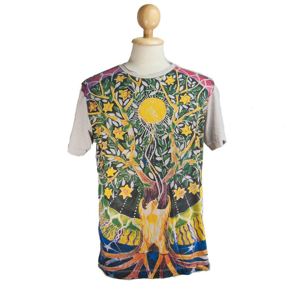 Mirror t-shirt Magical Tree Beige