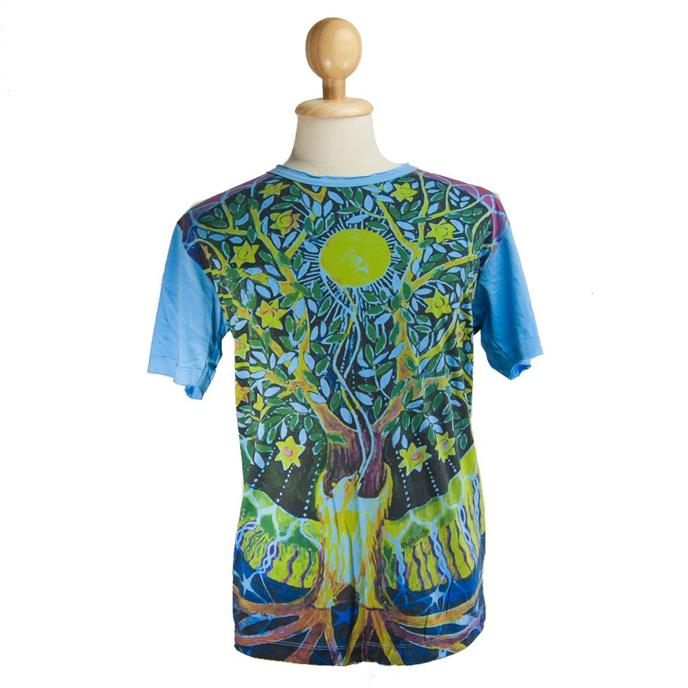 Mirror t-shirt Magical Tree Turquoise