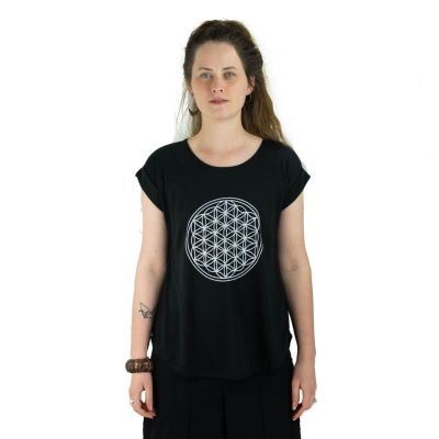 T-shirt Darika Flower of Life Black