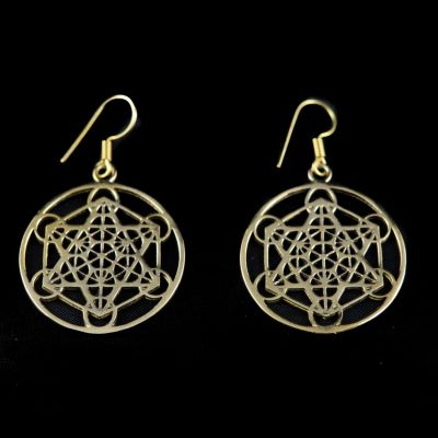 Earrings Hexagram Geometry
