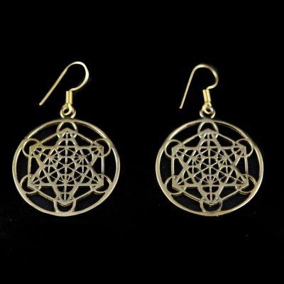 Earrings Hexagram Geometry