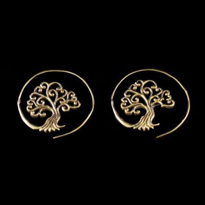 Brass earrings Tree 4