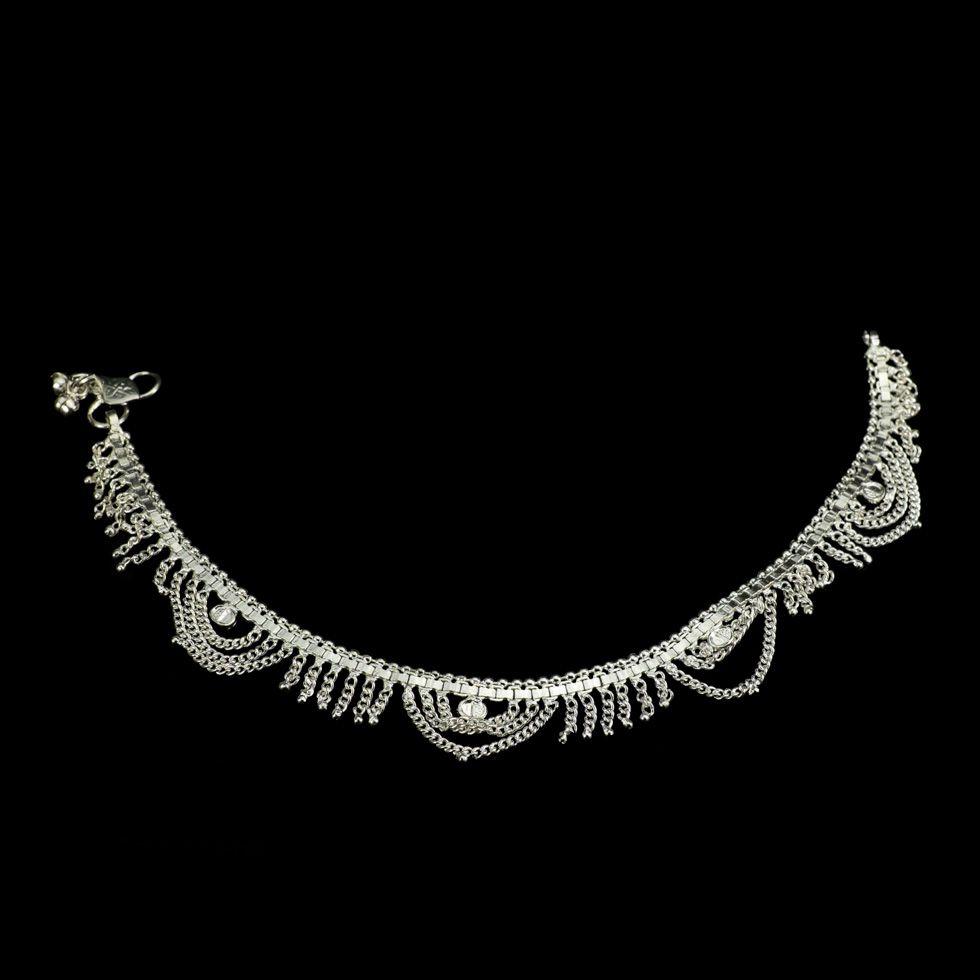 German silver anklet Jyoti India
