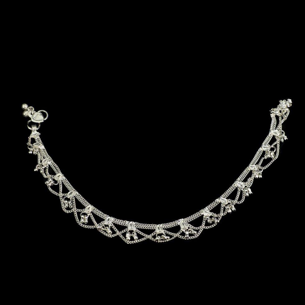 German silver anklet Lavanya India