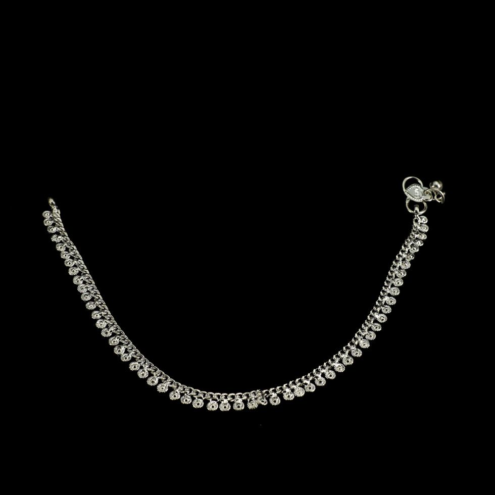 German silver anklet Syeda India