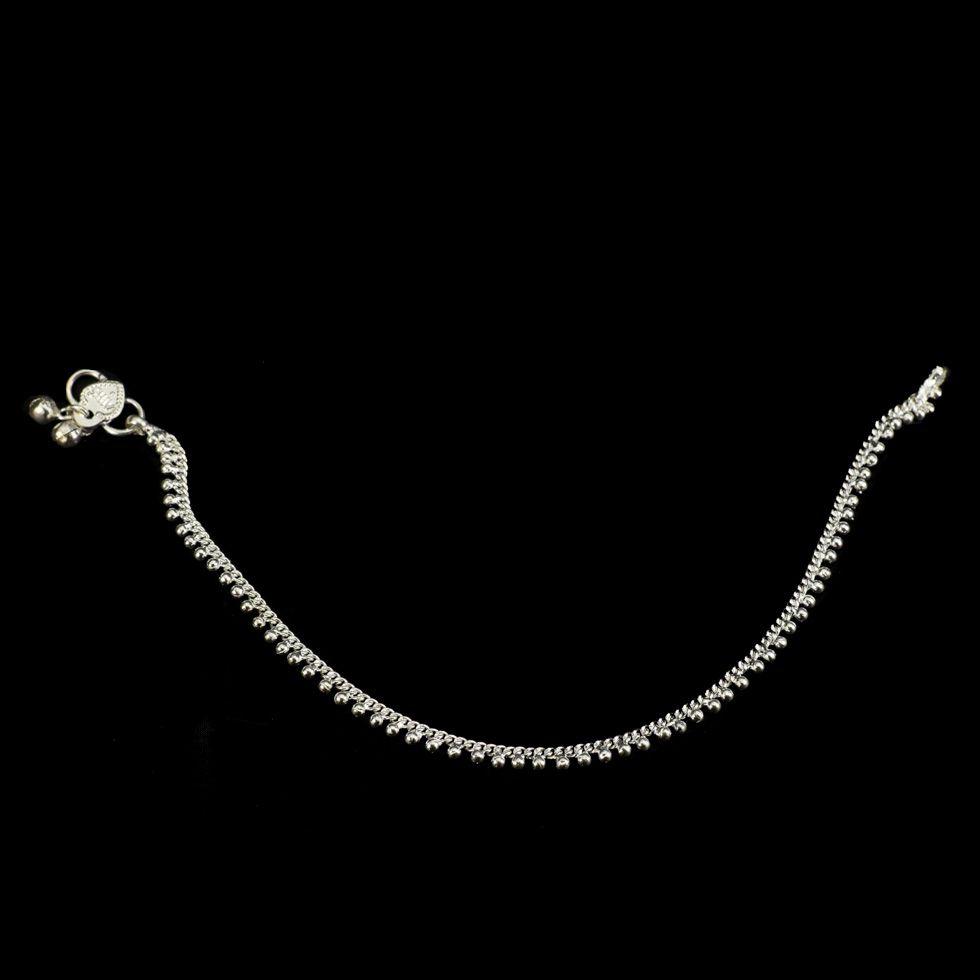 German silver anklet Tanu India