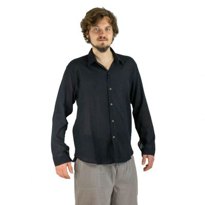 Men's shirt with long sleeves Tombol Black