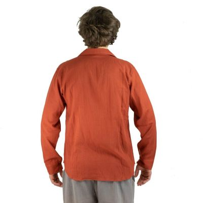 Men's shirt with long sleeves Tombol Orange