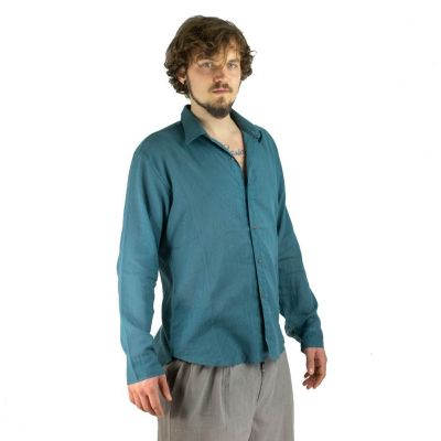 Shirt Tombol Teal Blue