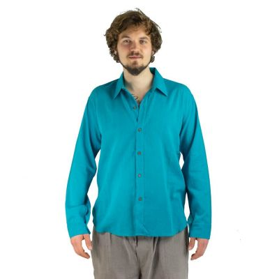 Shirt Tombol Turquoise