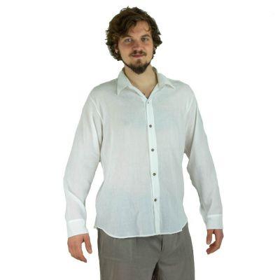 Men's shirt with long sleeves Tombol White