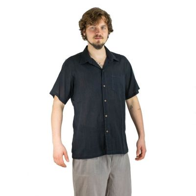 Men's shirt with short sleeves Jujur Black