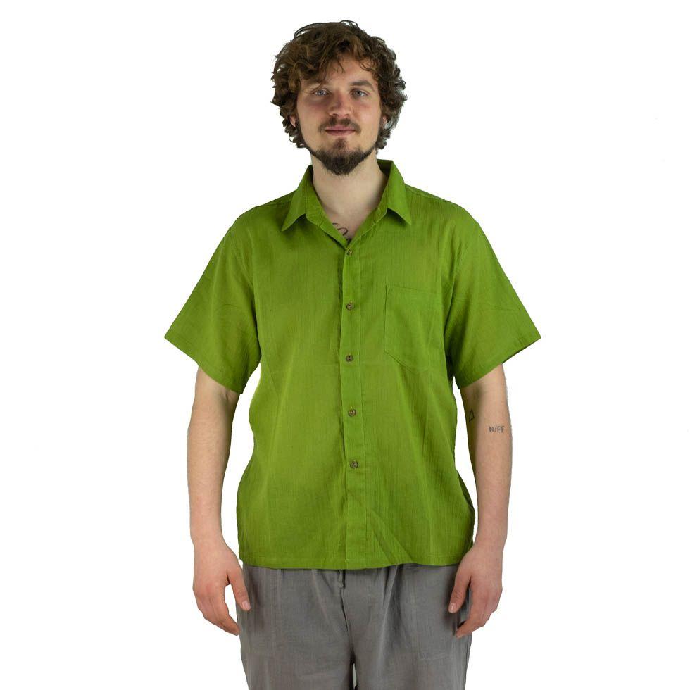 Men's shirt with short sleeves Jujur Green