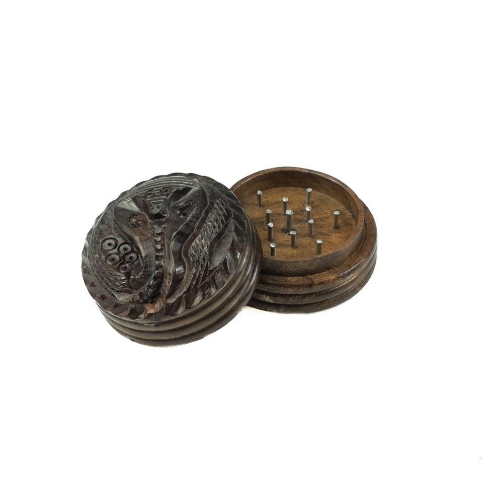 Carved grinder Cobra - small India