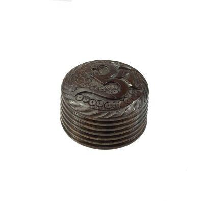 Carved grinder Om India