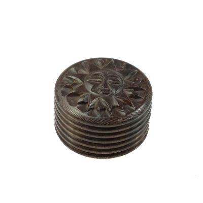 Carved grinder Sun India