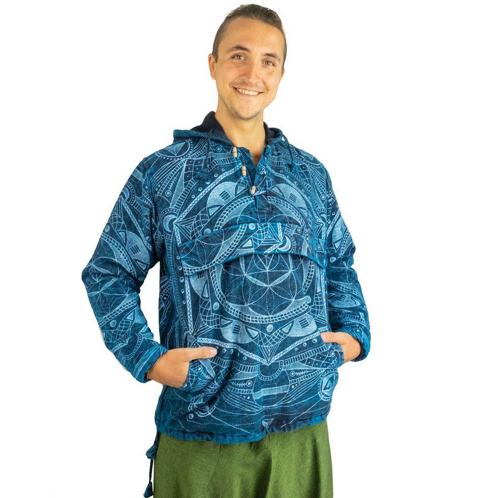 Men's ethnic jacket Jantur Saku Biru Nepal