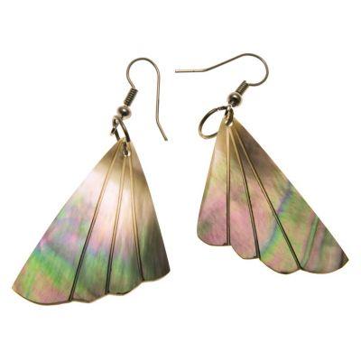 Shell earrings Pearl Fan
