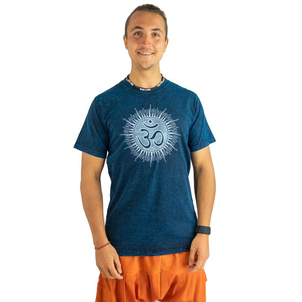 T-shirt Om Senang Blue Nepal
