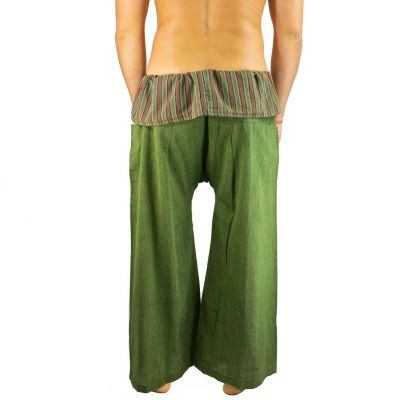 Wrap trousers - Fisherman's Trousers - green