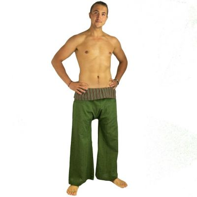 Wrap trousers - Fisherman's Trousers - green | UNISIZE