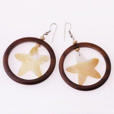 Shell earrings Glitter of a Star