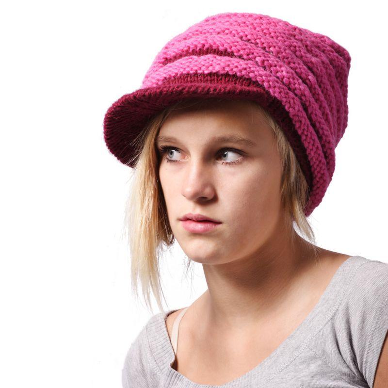 Woolen hat Pink Bhatti