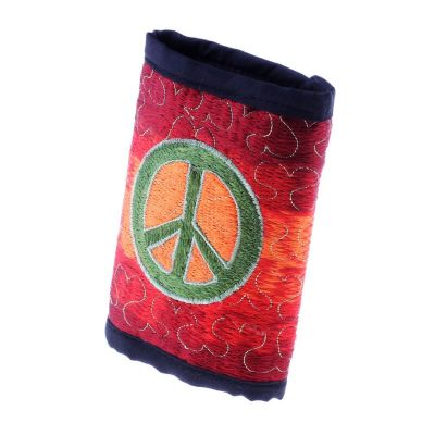 Embroidered wallet Hippie
