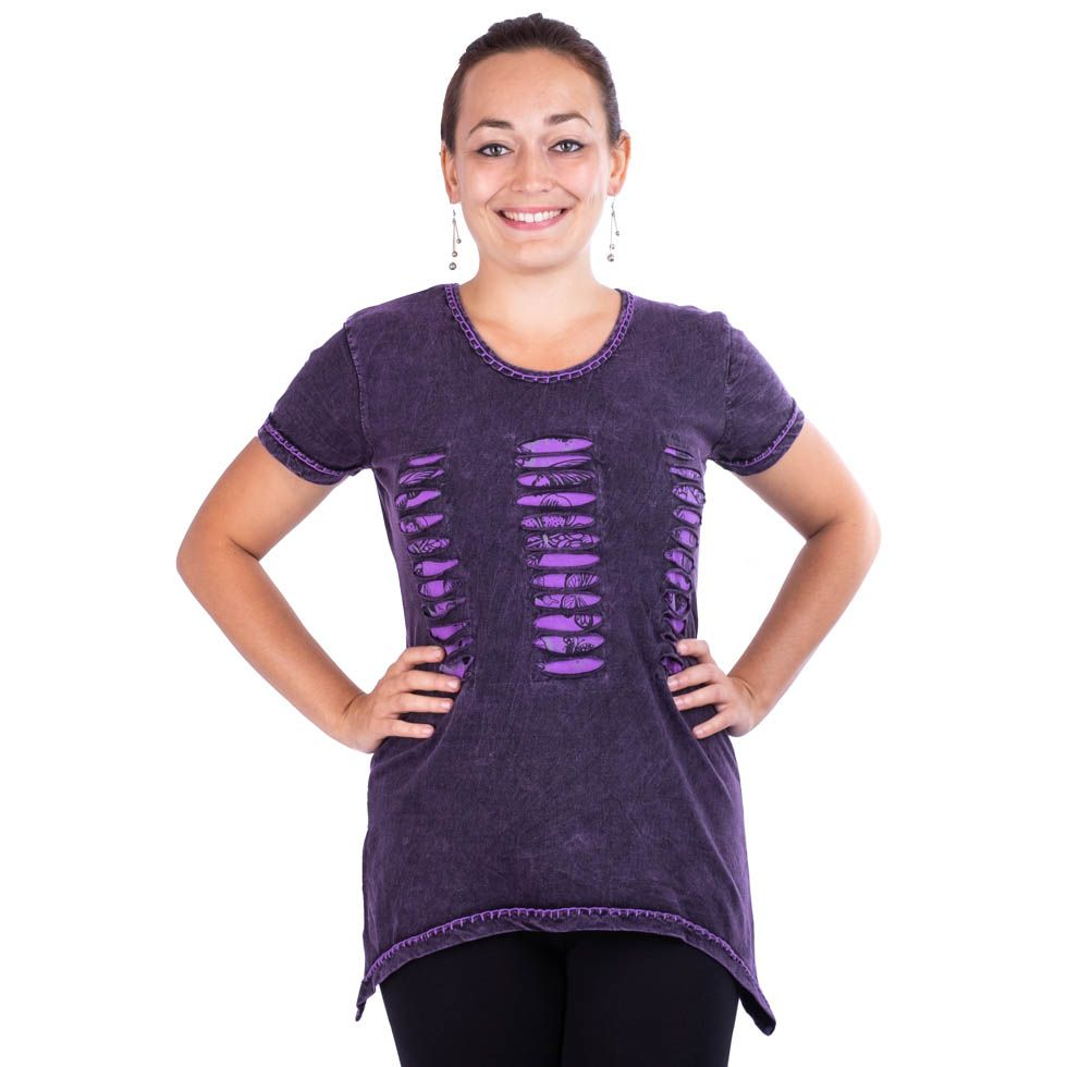 Women's t-shirt with short sleeves Ehani Ungu