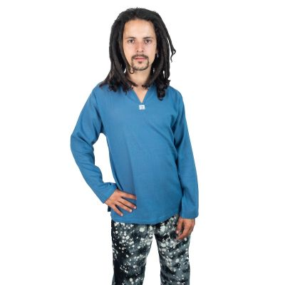 Kurta Abiral Blue - men's shirt with long sleeves Thailand