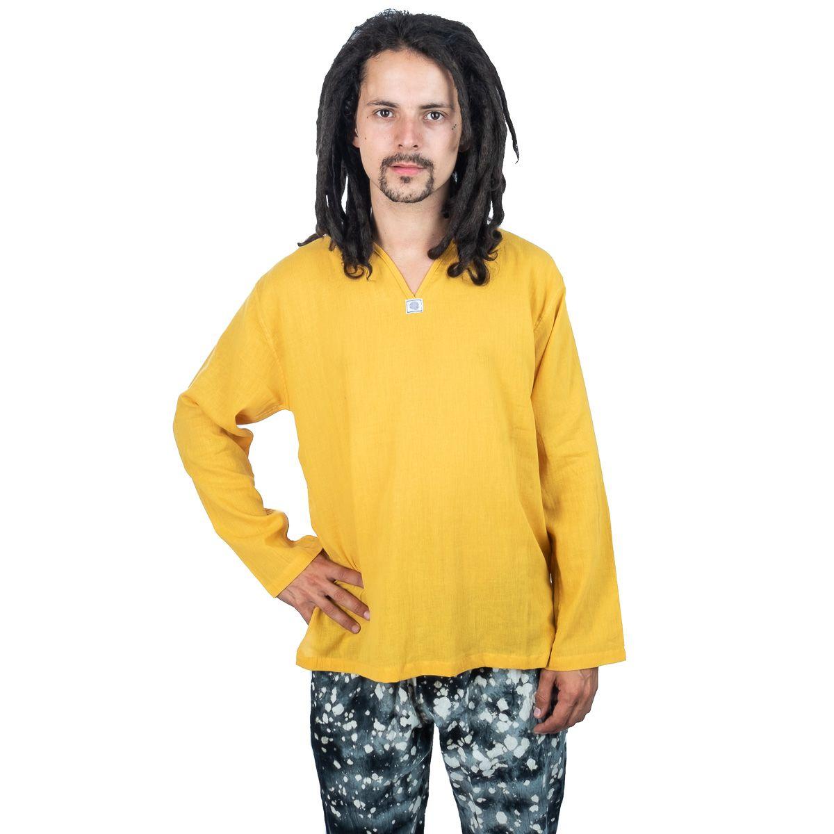 Kurta Abiral Mustard - men's shirt with long sleeves Thailand