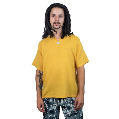 Kurta Lamon Yellow - men's shirt with short sleeves