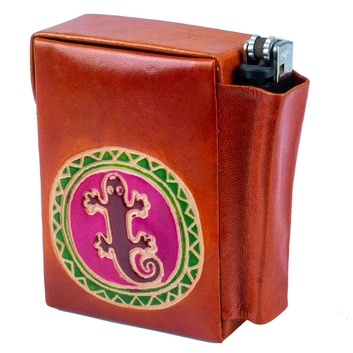 Cigarette case Lizard - orange