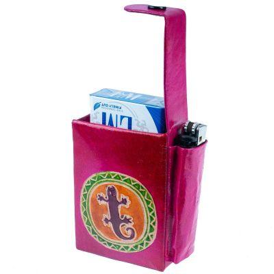 Cigarette case Lizard - pink