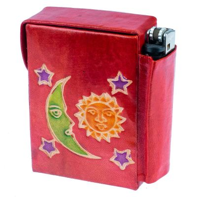 Cigarette case Night and Day - red