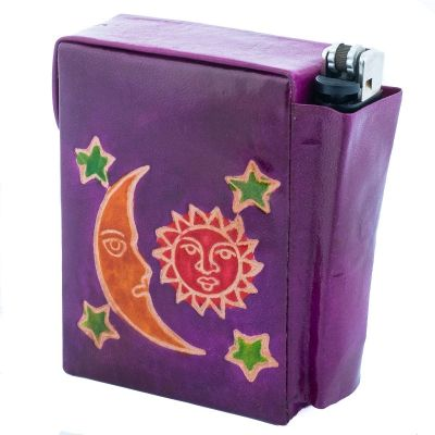 Cigarette case Night and Day - purple