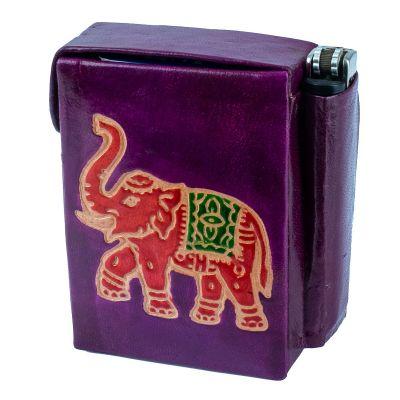 Cigarette case Elephant - purple