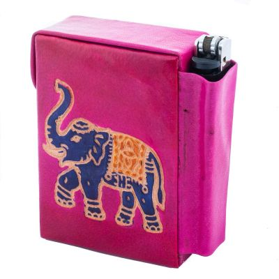 Cigarette case Elephant - pink