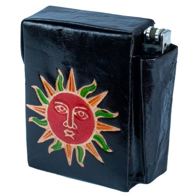 Cigarette case Sun - black