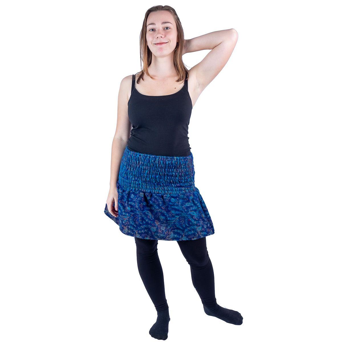 Acrylic mini skirt Hanima Indigo India