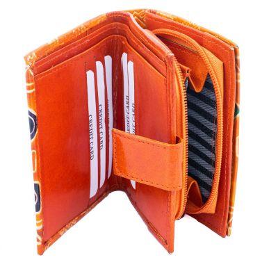 Leather wallet Faria - orange