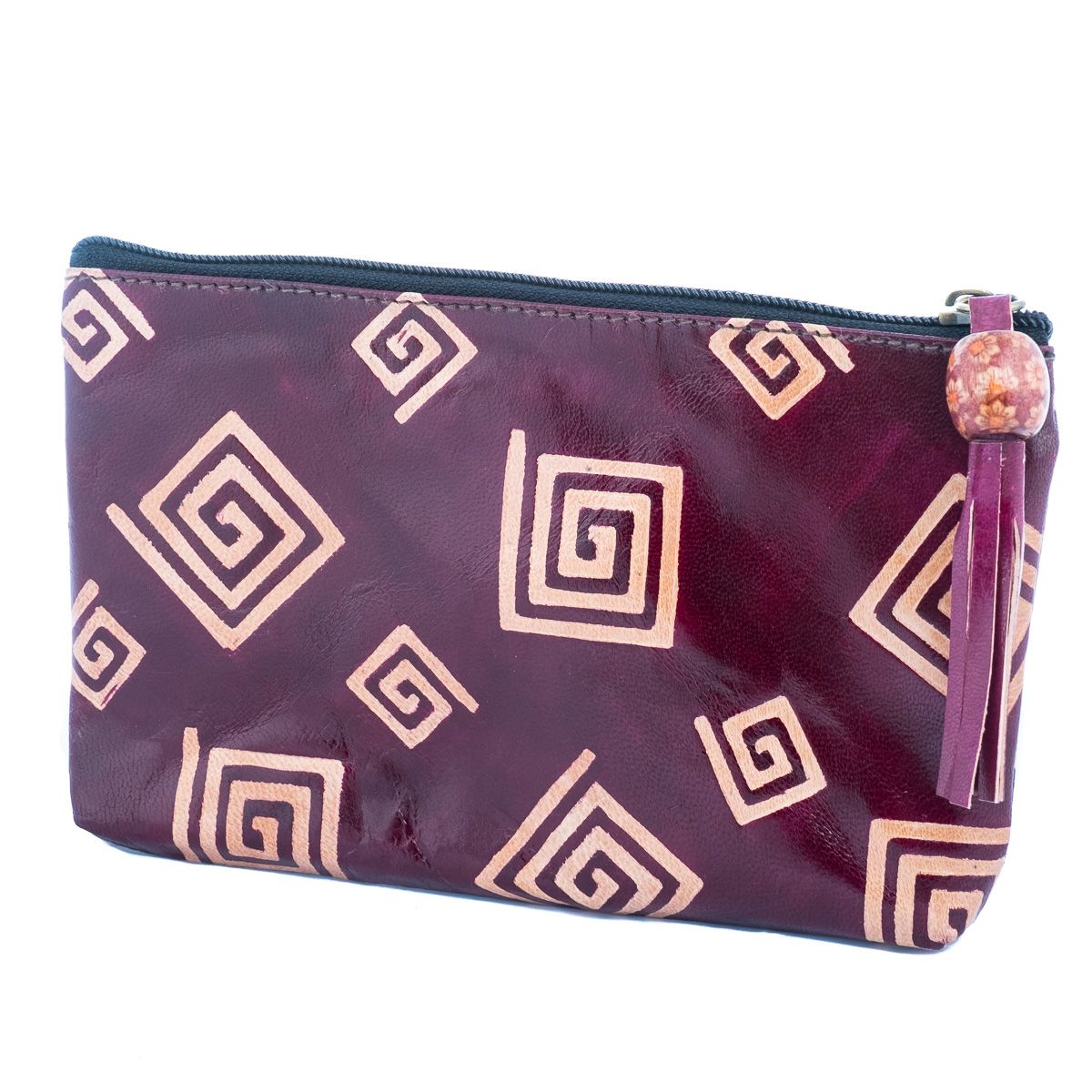 Leather wallet Square spiral
