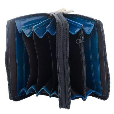 Leather wallet Kaneera - blue