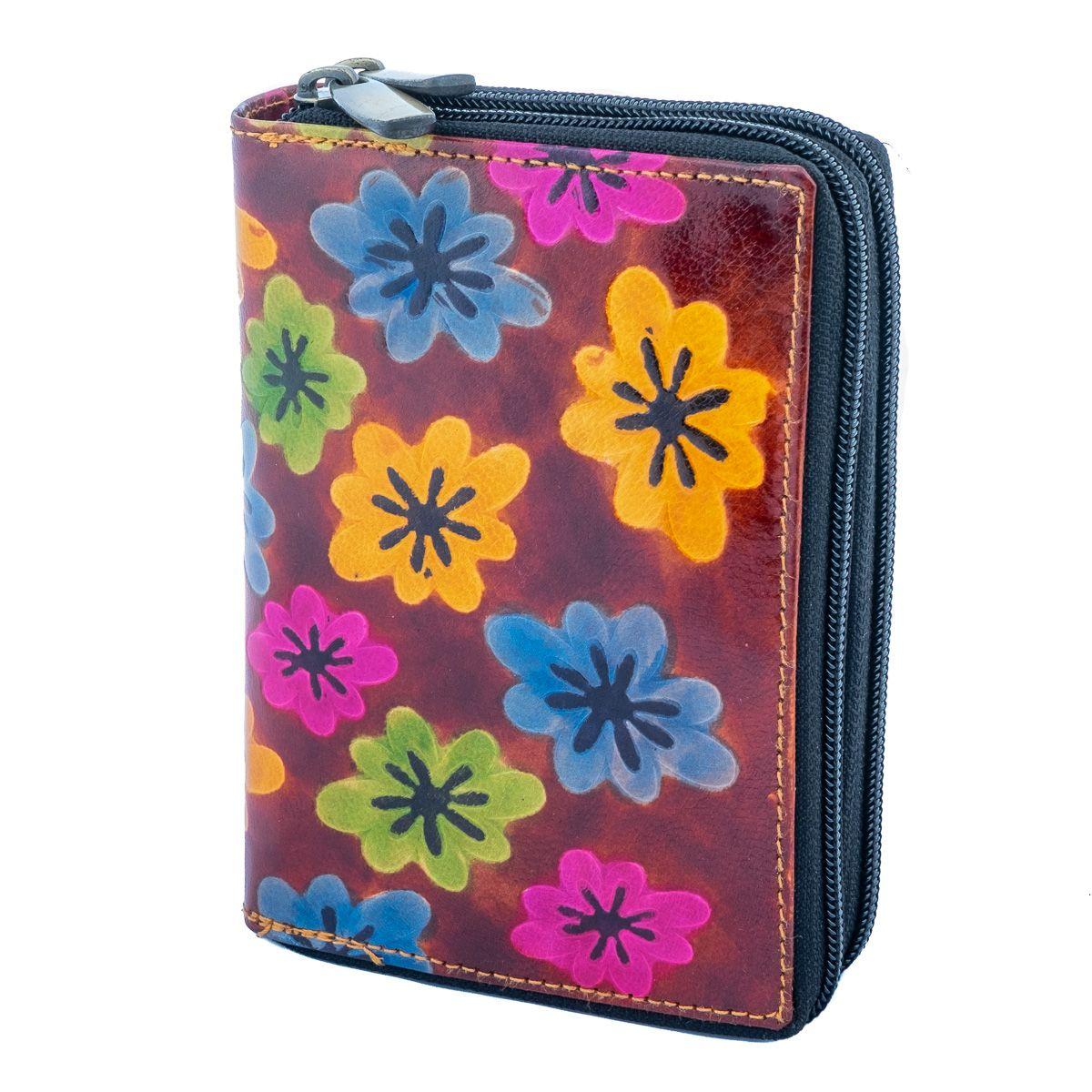 Leather wallet Kaneera - burgundy