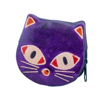 Wallet Kitty - purple